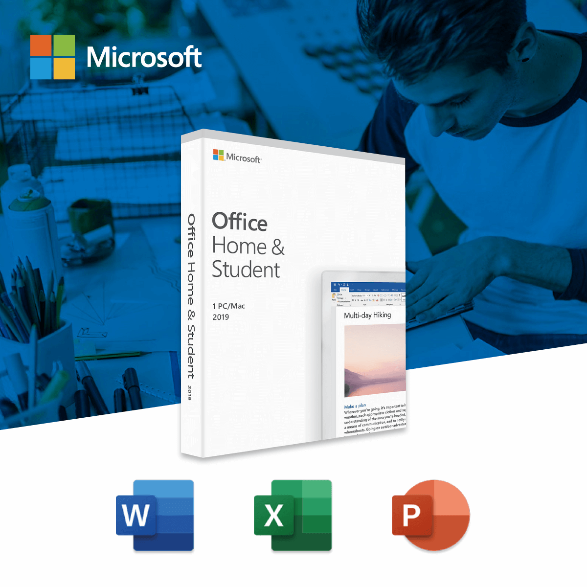 Microsoft Office Home and Student 2019 (Medialess)