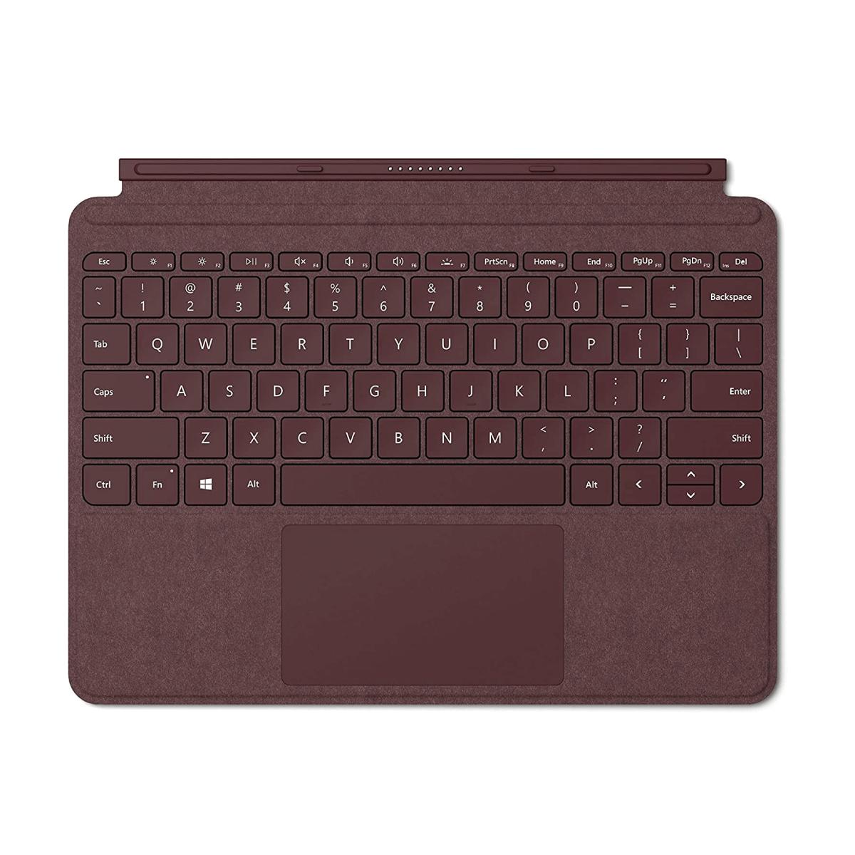 Microsoft Surface Go Signature Type Cover Colour Burgundy English